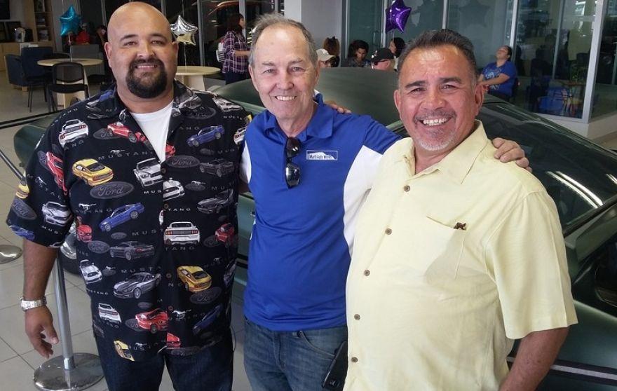 De gauche à droite : Ralph Garcia Junior, Kevin Marti et Hugo Sanchez