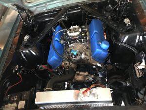 Le compartiment moteur, tout beau, tout propre !
